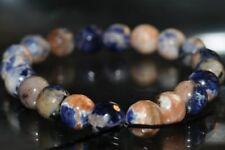 "20Pcs 6mm""Ultra Stunning""~Blue SODALITE & Orange LITHIOPHILITE Round Beads L1167"