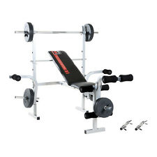 Hammer Fitness Hantelbank Bermuda Inkl. 25 Kg gewichte