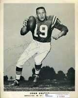 Johnny Unitas JSA Coa Hand Signed 8x10 Colts Vintage Photo Autograph
