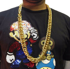 HIP HOP CHAIN NECKLACE • 50cm • GOLD STYLE • COSTUME #186