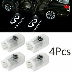 4X Logo LED Door Light Laser Projector for INFINITI FX37 FX35 Q50 M35 G37 QX80