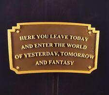Magic Kingdom DL Entranceway Plaque Inspired Sign - (Disney Inspired Prop)