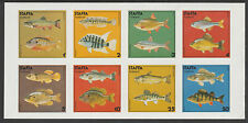 GB Locals - Staffa 3531 - 1978  FISH  imperf sheet of 8 unmounted mint