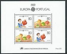 1989 EUROPA PORTOGALLO FOGLIETTO MNH ** - B