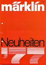 Prospekt Märklin Neuheiten 1977 brochure Marklin Bierwagen Kippwagen Lokomotive