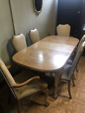 More details for original epstein 1930/50s dining room table,6 chairs & sideboard burr walnut.
