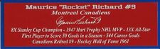 Maurice Rocket Richard Autograph Nameplate Montreal Canadiens Puck Jersey Photo