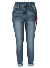 City Chic Harley High Rise Skinny Embroidered Jeans 18