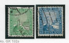 Germany Weimar 1925, lot of 2 stamps, VF Used (GLN-RN)