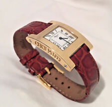 Chopard H Watch Ladies 18kt Yellow Gold Crocodile Leather 24.5mm X 36mm
