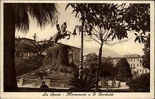 La Spezia Italien s/w Postkarte 1936 Monumento a G. Garibaldi Partie am Denkmal