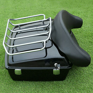 Tour Pak Trunk Backrest Rack Fit For Harley Touring Road Electra Glide 1997-2013
