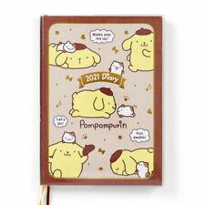 POMPOM PURIN B6 Diary block type 2021 Schedule planner Book Sanrio kawaii NEW