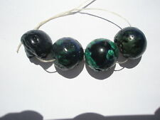 Natural Azurite/Malachite med-lg Nugget Beads - 13-15x14-16mm - 4