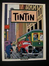 Tintin Album poster Hergé Ed. Casterman 1986 TTBE