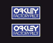 New Vintage BMX Oakley Factory Pilot BLUE decal sticker set Old School Fox FMF