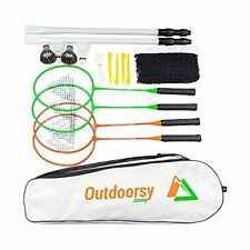 New listing OutdoorsyJimmy Complete Badminton Set for Backyards - Premium Set Includes Ba...