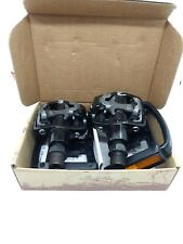 Wellgo WPD-823 Pedals - Single Side Clipless with plastic reflect Platforms 9/16