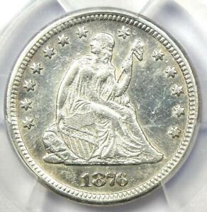 1876-CC Seated Liberty Quarter 25C - PCGS AU Details - Rare Carson City Date!