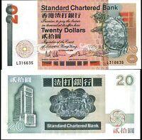 Hong Kong 1985, Standard Chartered Bank $20 Dollars, Banknote UNC