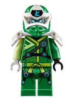 LEGO Mini Figure Digi Lloyd with Weapons from set 71709 Velocity Racers New