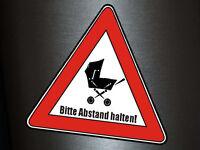 1 x Aufkleber Vorsicht Abstand Halten Baby An Board Sticker Schild OEM Static