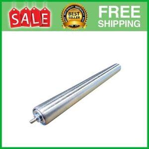 """Pack of 5 Conveyor Rollers, 1.5"""" Diameter Galvanized Steel, 16"""" Between Frame"""