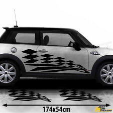 Fits Mini Cooper S Side Racing Stripes Stickers Decal Graphics
