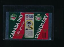 1976 Canada Dry Ginger Ale Soda Pop Can Football NFL Jets blanked sheet unused