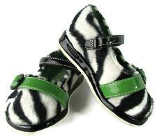 Mod Zebra Gymboree Infant Baby Shoes 2 Green Mary Jane Striped