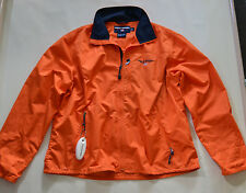 VINTAGE POLO SPORT SAILING JACKET L Ralph Lauren 92 Orange Spellout Windbreaker