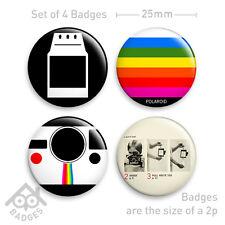 "POLAROID Camera SX-70 RETRO Film - 1"" Badge - Set of 4 x 25mm Badges Set 2"