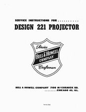 8mm Bell & Howell Design 221 Projector Service and Parts Manual
