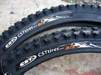 PAIR CST RALEIGH MTB MOUNTAIN BIKE CYCLE TYRES ONLY 26 X 1.95
