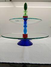 Grosse Leonardo Etagere Glas (2-stufig) 35cm Studio Design
