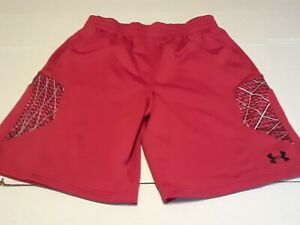Under Armour Mens Red Football Athletic Gym Shorts Size Large L
