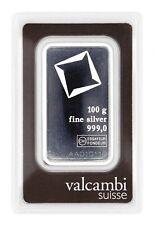 Silberbarren 100 g im Blister von Valcambi