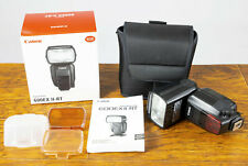 Exc+ Canon Speedlite 600EX II-RT Shoe Mount Flash for Canon Box,Extras Tested!