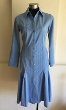 Karen Millen Shirt Dress, Size AU/UK 12, US 8, Blue, Pinstripes