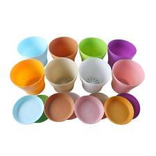 "5.5"" Plastic Flower Seedlings Nursery Pot/ Planter w/Saucer Pallet, 8 Colors"