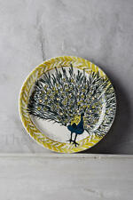 "1 New Anthropologie ""Plumology"" Peacock Canape Plate ~ By Lee Page Hanson"