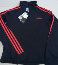 Adidas 1/4 Zip Track Jacket pullover Navy S Small Fleece New with tags