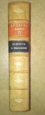 THEOCRITE Scriptorum graecorum bibliotheca Firmin-didot 1849  grec poesie