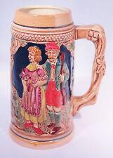 """German Beer Stein Mug 7"""" German Castle Ceramic Lusterware Japan"""