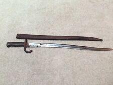 French Military 1873 Chassepot Gras Rifle Bayonet w/Matching Scabbard.