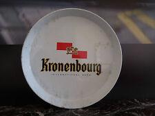 Plateau de service à bière Kronenbourg métal design art déco XXe PN France