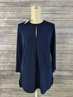 New Lauren Ralph Lauren Womens Top Blue Shirt Size Small MSRP $79