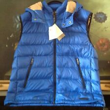 6a0249e313b NWT BURBERRY BRIT MEN'S Goose-down Detachable Hood Packaway Vest Garment  Bag XL