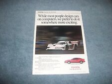 "1990 Toyota Celica All-Trac Turbo Vintage Ad ""While Most People Design Cars..."""