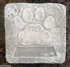 Dog paw concrete mold Memorial animal stepping stone mould